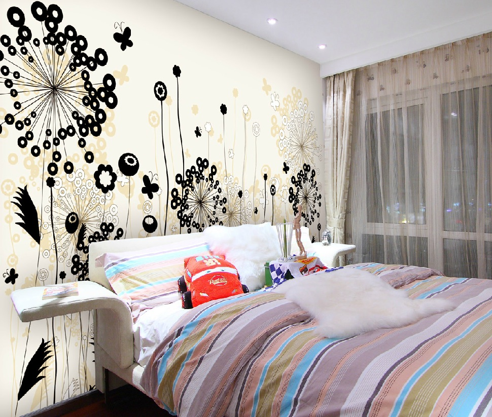 Oriental Flower Modern Wall Decal